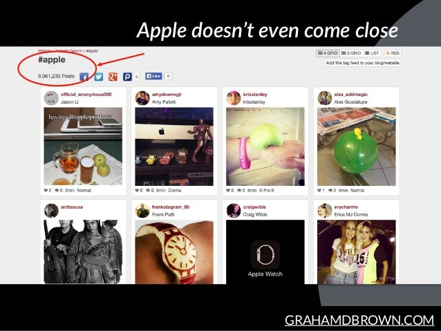 GRAHAMDBROWN.COM Apple  doesn't  even  come  close