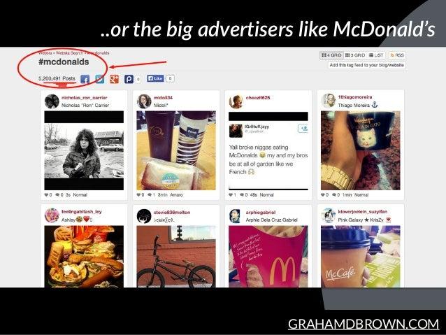GRAHAMDBROWN.COM ..or the big advertisers like McDonald's