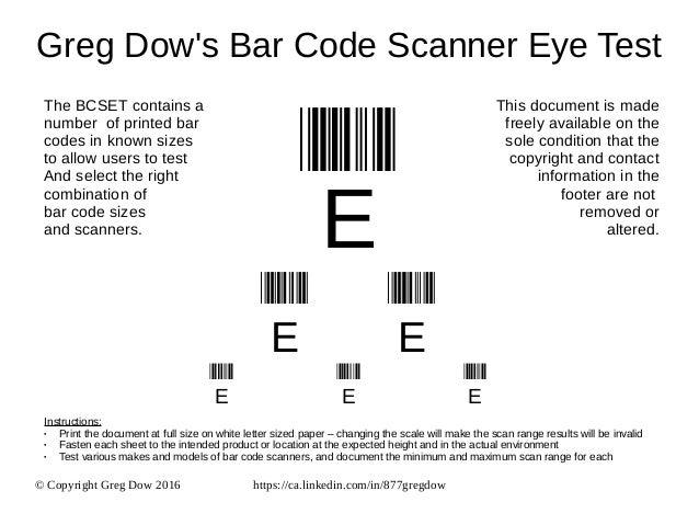 Greg Dow\'s Bar Code Scanner Eye Test