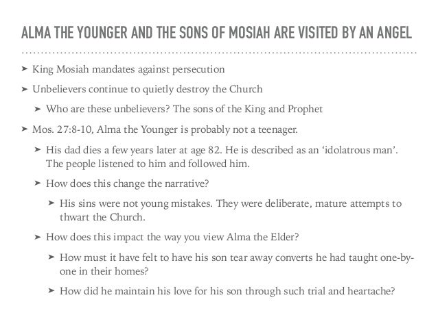 ALMA THE YOUNGER AND SONS OF MOSIAH