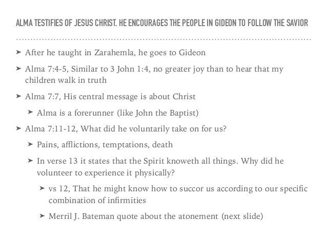 38 13 ALMA TESTIFIES OF JESUS CHRIST
