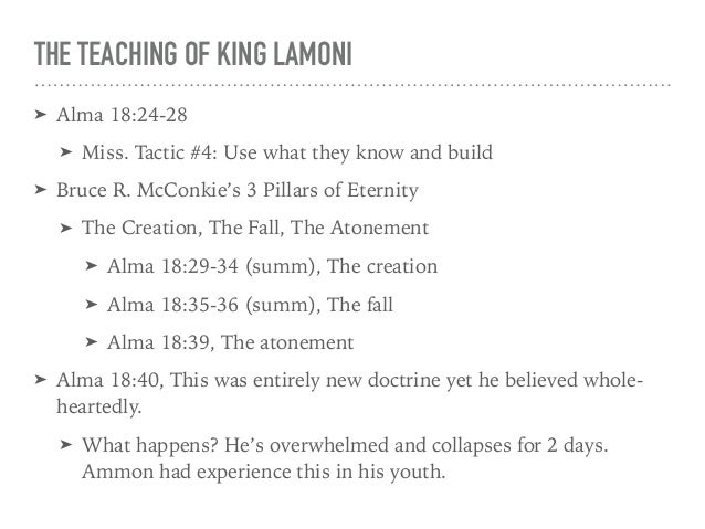 Ammons Bargain 7 THE TEACHING OF KING LAMONI