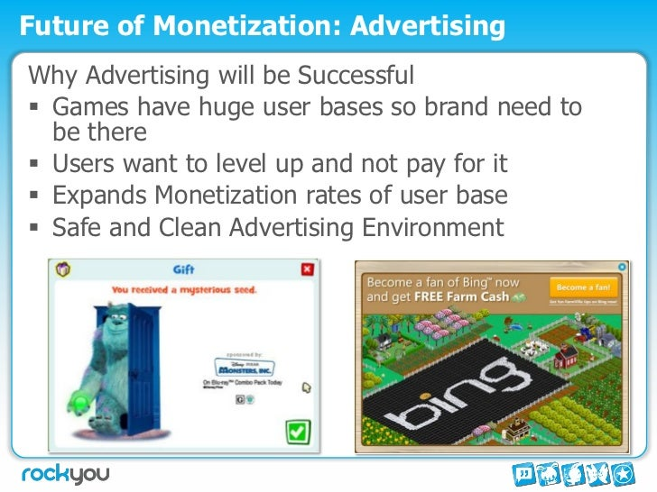 Monetization model for social games