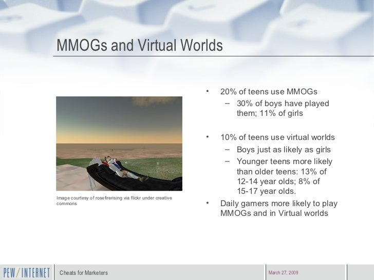 Cheats for marketers fresh demographics on teen and adult game play 13 mmogs and virtual worlds sciox Image collections
