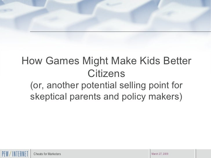 How Games Might Make Kids Better Citizens (or, another potential selling point for skeptical parents and policy makers)