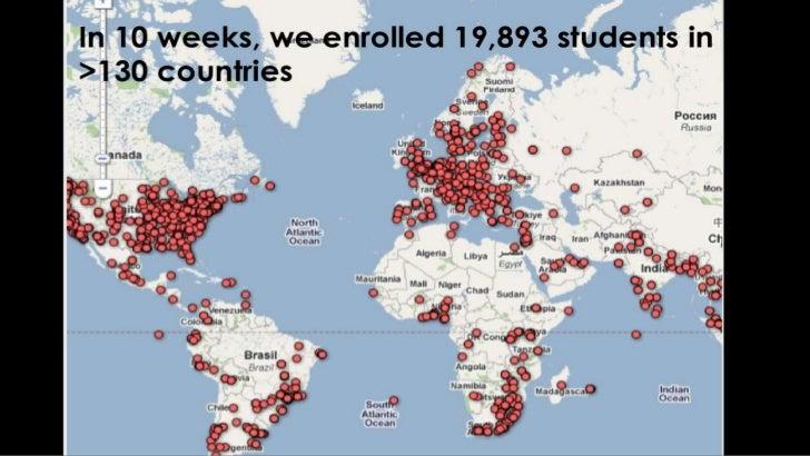 In 10 weeks, we enrolled 19,893 students in >130 countries<br />