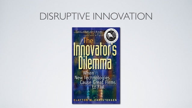 """DISRUPTIVE INNOVATION DEFINED""""A kind of innovation that improves a product orservice in ways that the market does notexpec..."""