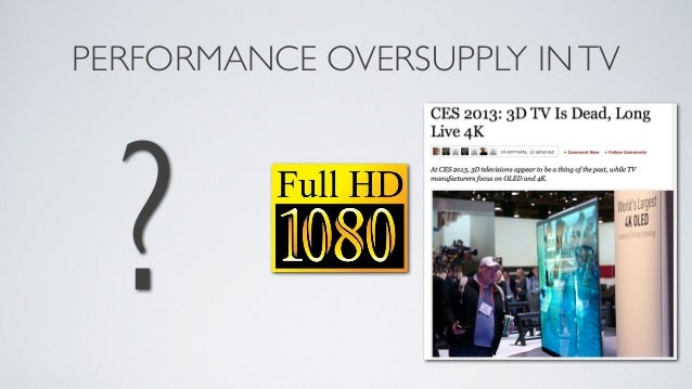 WHAT LEVEL OF PRODUCTPERFORMANCE SHOULD WETARGET?• Console/PC graphics are close to reaching Performance Oversupply• For e...