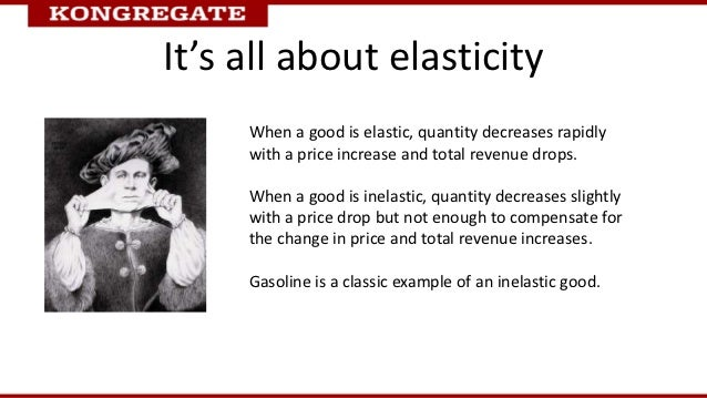 It's all about elasticity     When a good is elastic, quantity decreases rapidly     with a price increase and total reven...
