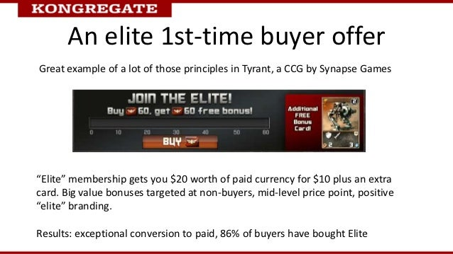 """An elite 1st-time buyer offerGreat example of a lot of those principles in Tyrant, a CCG by Synapse Games""""Elite"""" membershi..."""