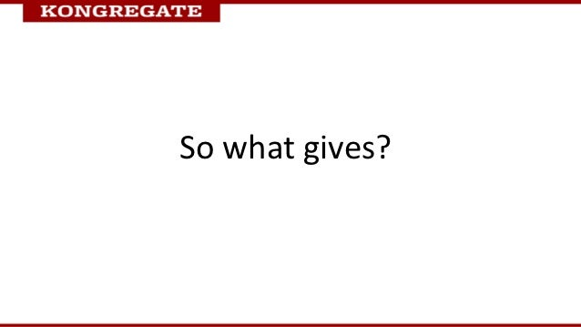 So what gives?