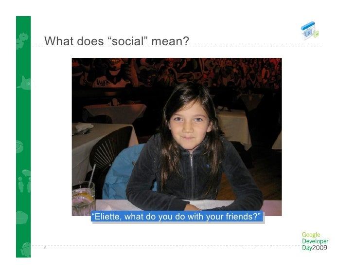"""What does """"social"""" mean?         This work by Eliette Chanezon is licensed under a Creative Commons Attribution-Share Alik..."""