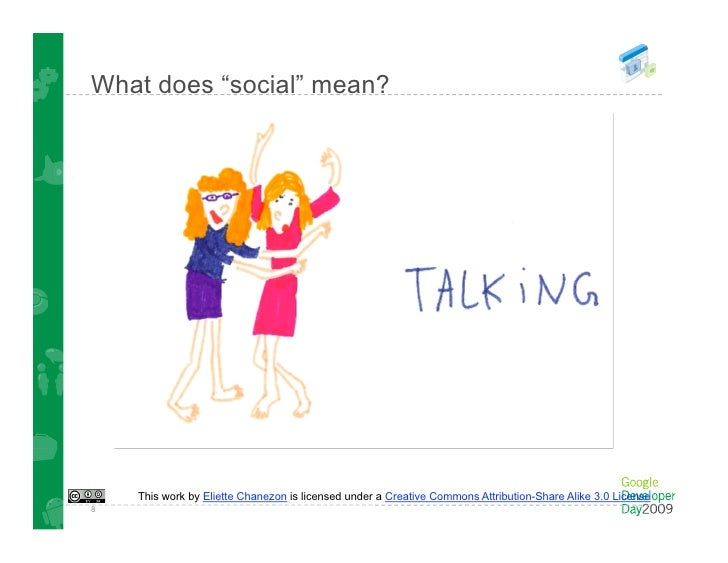 "What does ""social"" mean?         This work by Eliette Chanezon is licensed under a Creative Commons Attribution-Share Alik..."