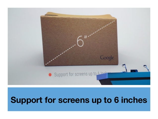 Support for screens up to 6 inches