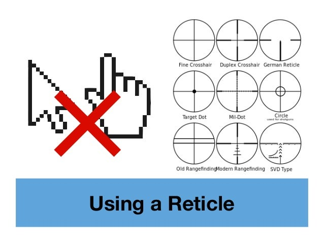 Using a Reticle ×