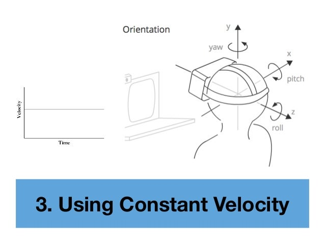 3. Using Constant Velocity
