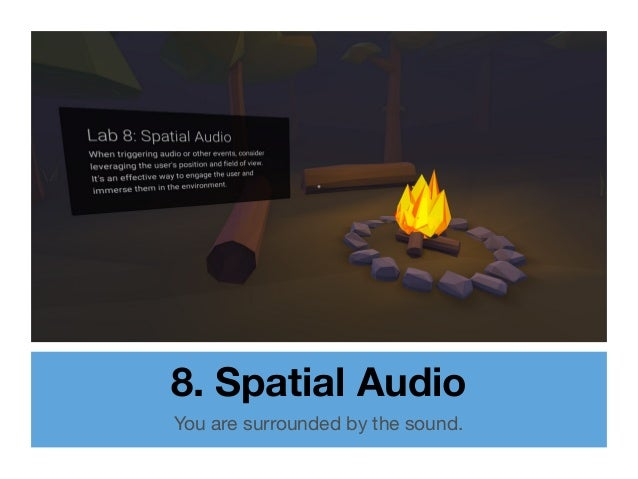 8. Spatial Audio You are surrounded by the sound.