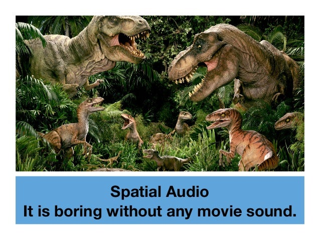 Spatial Audio It is boring without any movie sound.