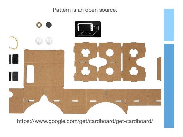 Pattern is an open source. https://www.google.com/get/cardboard/get-cardboard/