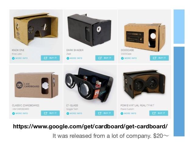 https://www.google.com/get/cardboard/get-cardboard/ It was released from a lot of company. $20∼