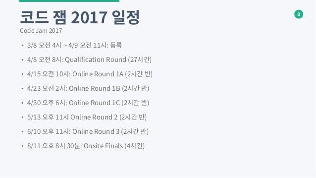 Google Code Jam 2017 소개 Slide 3