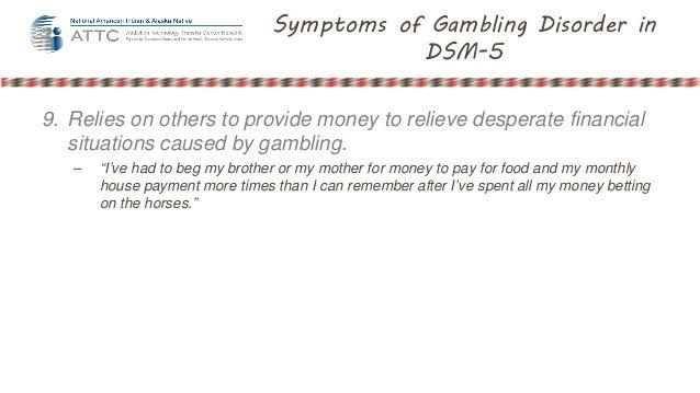 Gambling disorder dsm 4
