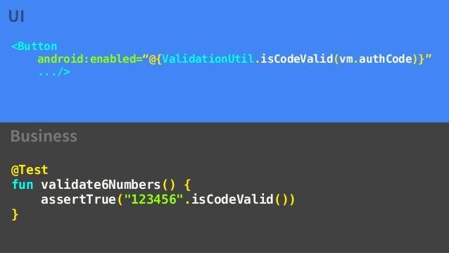 Android DataBinding (ViewModel, UI Modularization and Testing)