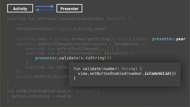 Activity view xml Presenter Data Binding MVP with Data Binding