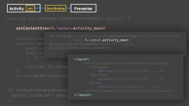 delete override fun onCreate(savedInstanceState: Bundle?) { ... val binding = DataBindingUtil.setContentView<ActivityMainB...