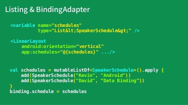 Listing & ViewHolder HeaderViewHolder ItemViewHolder class ItemViewHolder(v: View) : RecyclerView.ViewHolder class HeaderV...
