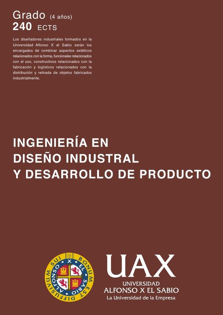 Grado En Dise O Industrial Y Desarrollo De Producto