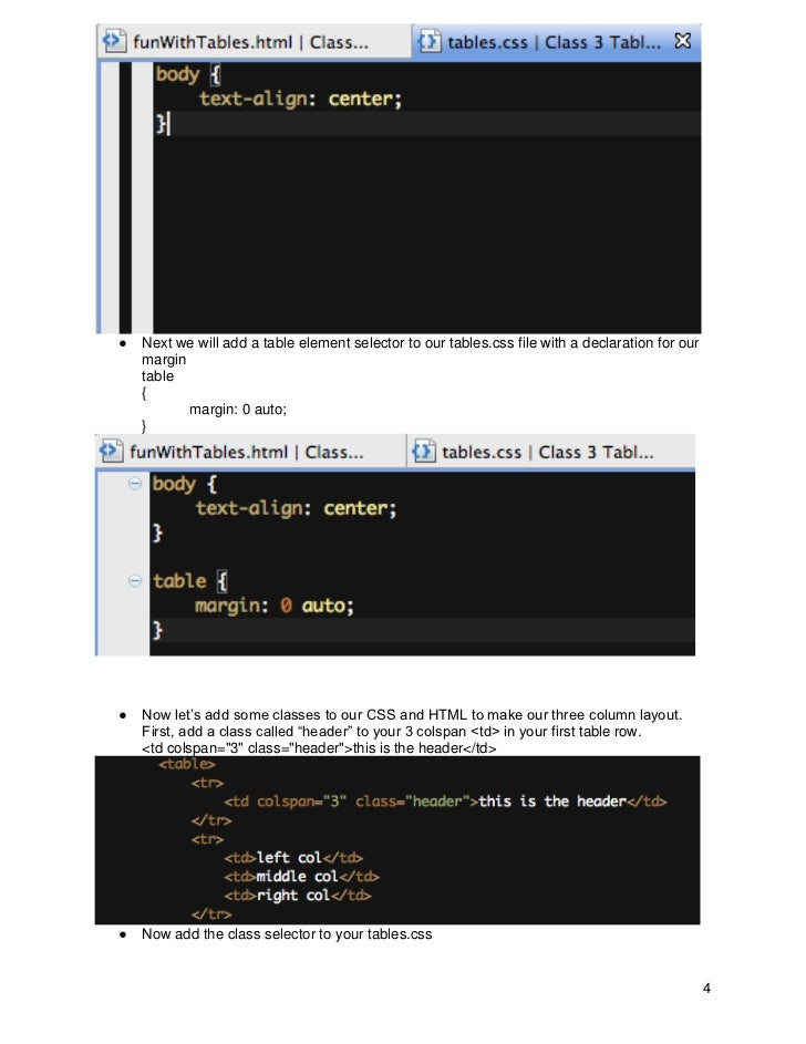 how to make css class