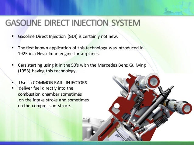 Gasoline Direct Injection System (GDI) for euro 6