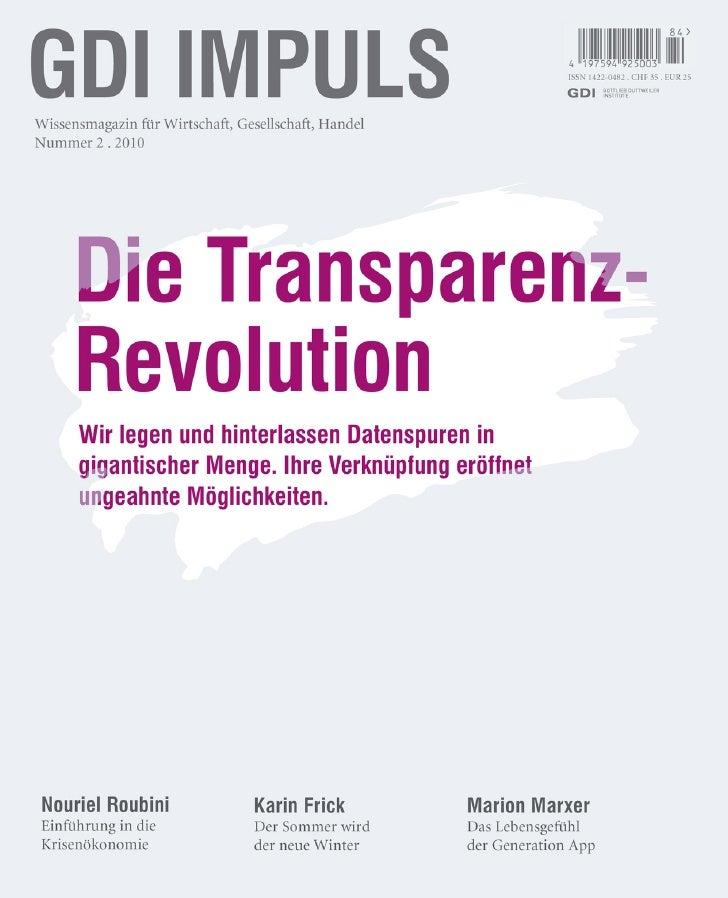 Thema: Die Transparenz-Revolution    4 AuToRen                                                           > Technologie 110...