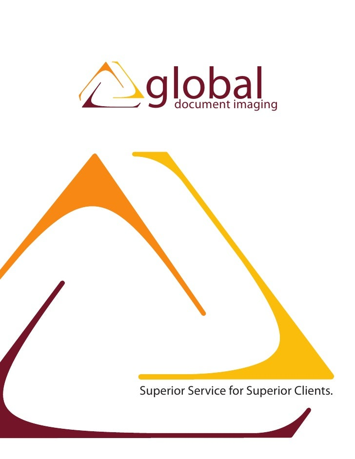global       document imaging     Superior Service for Superior Clients.