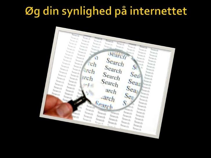 Øg din synlighed på internettet<br />
