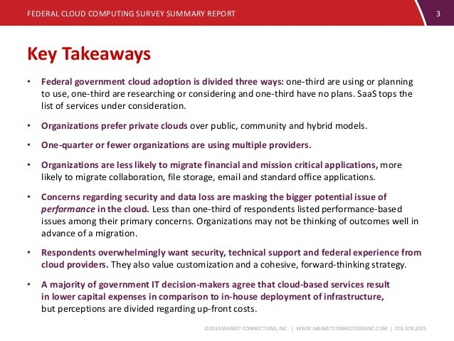 Federal Cloud Computing Report - Market Connections