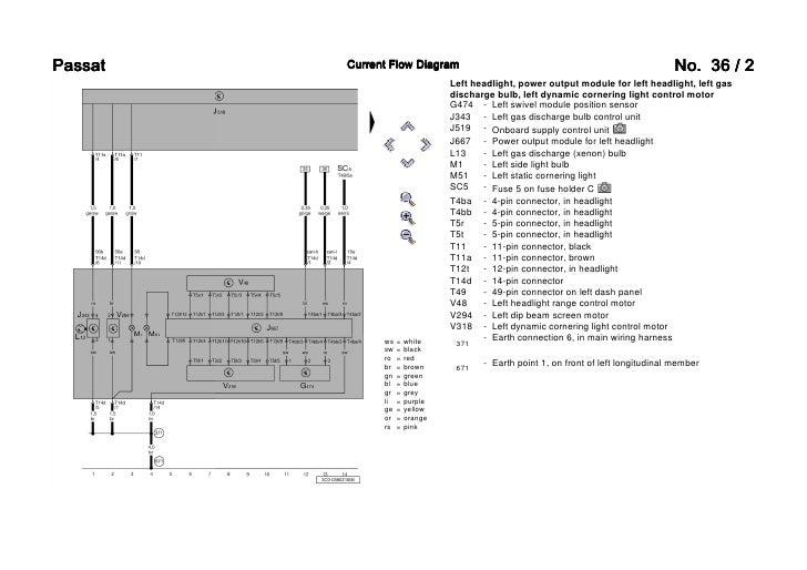 vw passat 3c bi xenon wiring diagram Light Relay Wire Diagram