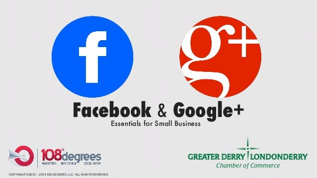 Facebook & Google+       Essentials for Small Business                                                                    ...