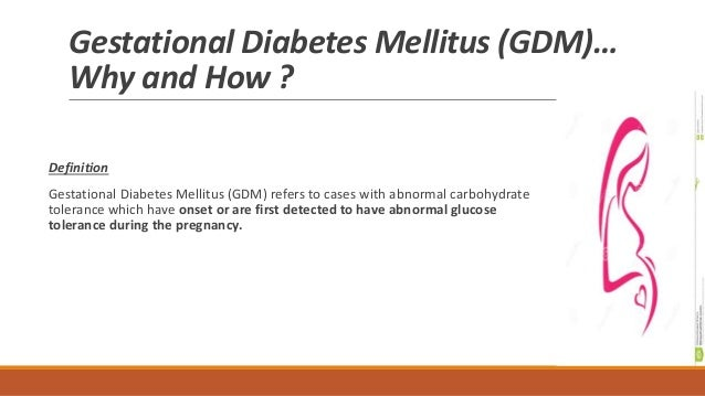 Pathogenesis and Complications of Gestational Diabetes Mellitus