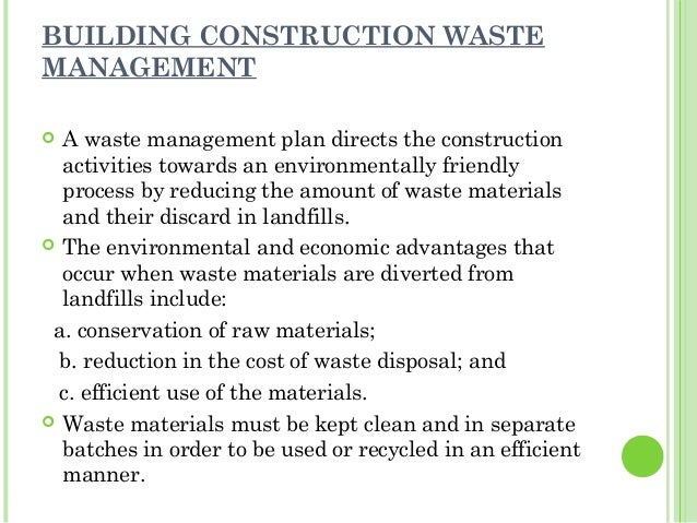 Reuse of c d waste for Construction environmental management plan template