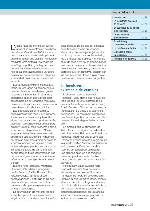 mapa del artículo l Introducción l La inexistente existencia de causales  D  pág. 21  l De tecnocracias y tecnomiedos  que...