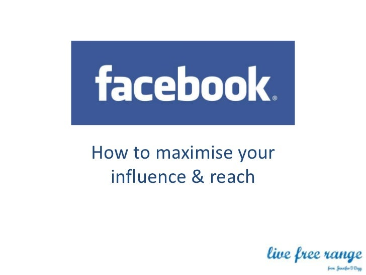 How to maximise your  influence & reach
