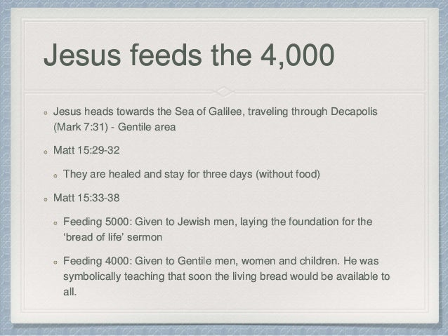 Jesus Dog Food Crumbs Children Sermon
