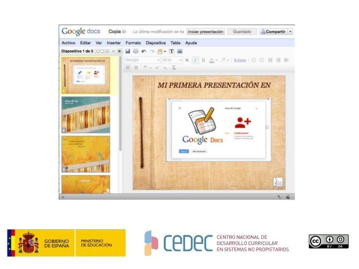 presentaciones con google docs cedec