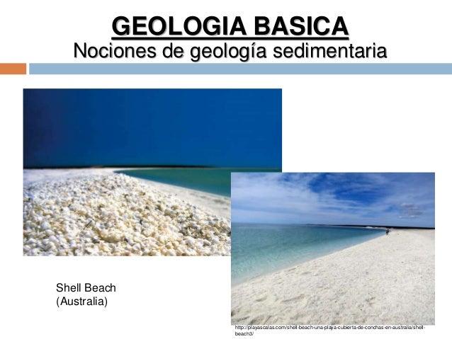 GEOLOGIA BASICA Nociones de geología sedimentaria Shell Beach (Australia) http://playascalas.com/shell-beach-una-playa-cub...