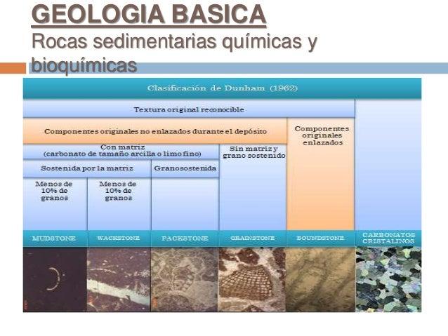 GEOLOGIA BASICA Rocas sedimentarias químicas y bioquímicas