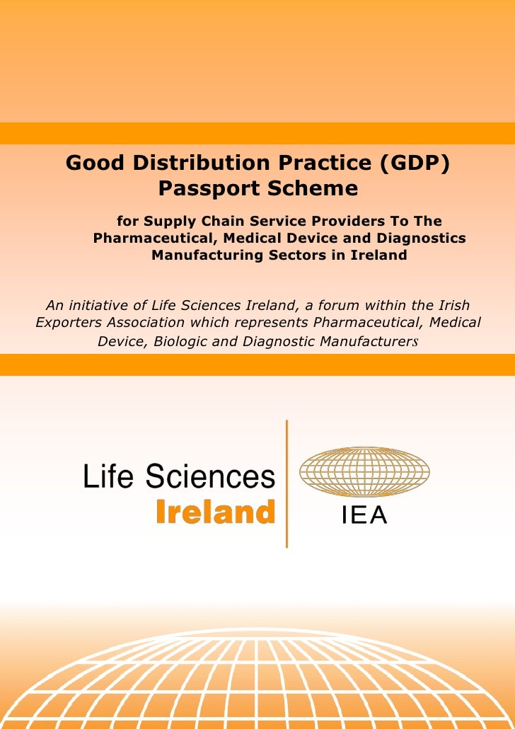 Good Distribution Practice (GDP)            Passport Scheme           for Supply Chain Service Providers To The         Ph...