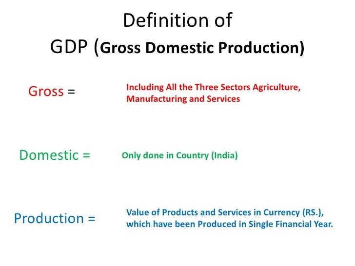 gross domestic product subcomponents and their Definition: gdp at purchaser's prices is the sum of gross value added by all resident producers in the economy plus any product taxes and minus any subsidies not included in the value of the products.