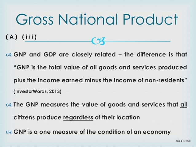 an introduction to the gross domestic product gdp Gross domestic product (gdp) is the monetary value of all the finished goods and  services produced within a country's borders in a specific time period though.